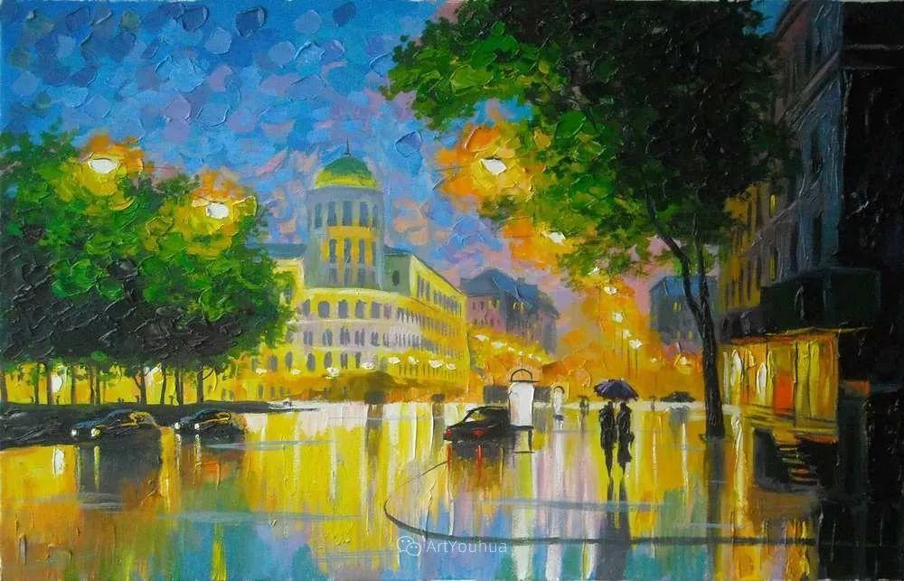 他笔下的路灯街景,很浪漫,暖心!乌克兰艺术家亚历山大·博洛托夫插图47