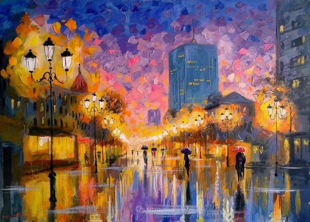 他笔下的路灯街景,很浪漫,暖心!乌克兰艺术家亚历山大·博洛托夫插图49