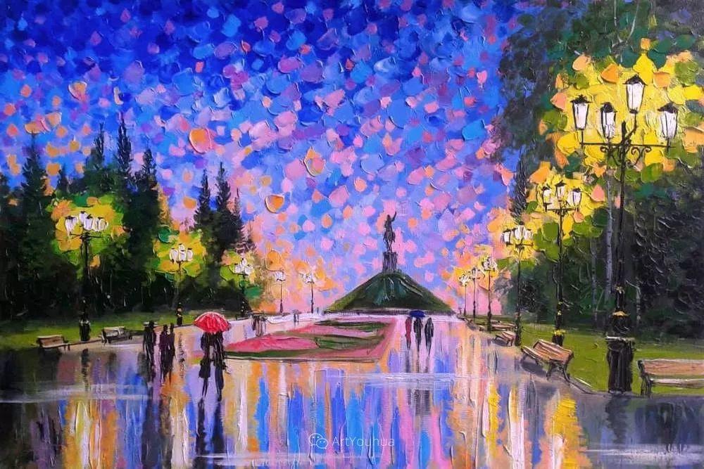他笔下的路灯街景,很浪漫,暖心!乌克兰艺术家亚历山大·博洛托夫插图51