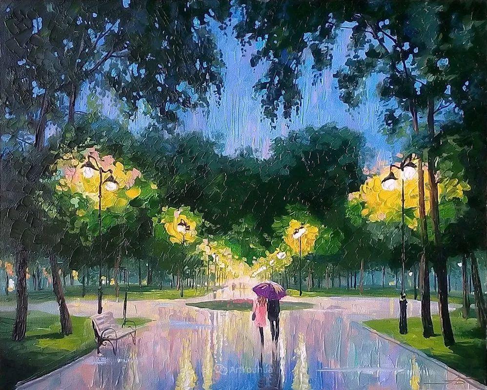 他笔下的路灯街景,很浪漫,暖心!乌克兰艺术家亚历山大·博洛托夫插图53