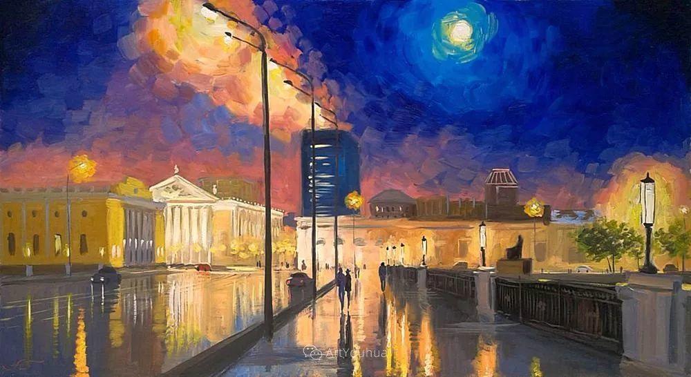 他笔下的路灯街景,很浪漫,暖心!乌克兰艺术家亚历山大·博洛托夫插图55