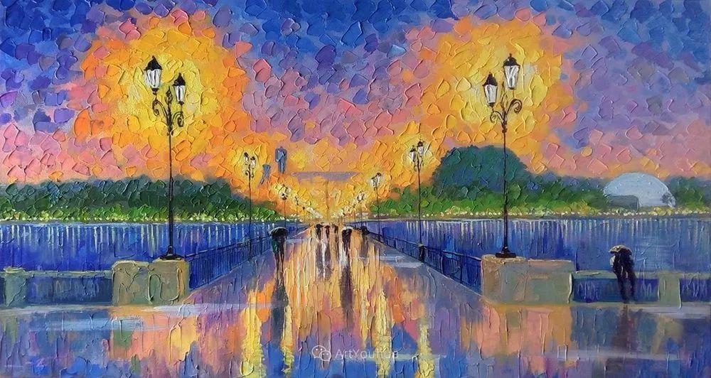 他笔下的路灯街景,很浪漫,暖心!乌克兰艺术家亚历山大·博洛托夫插图57