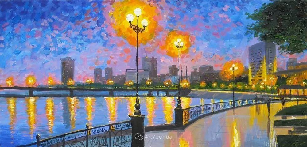 他笔下的路灯街景,很浪漫,暖心!乌克兰艺术家亚历山大·博洛托夫插图59