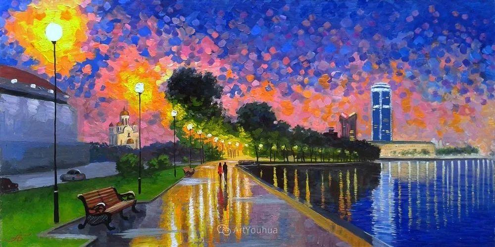 他笔下的路灯街景,很浪漫,暖心!乌克兰艺术家亚历山大·博洛托夫插图61