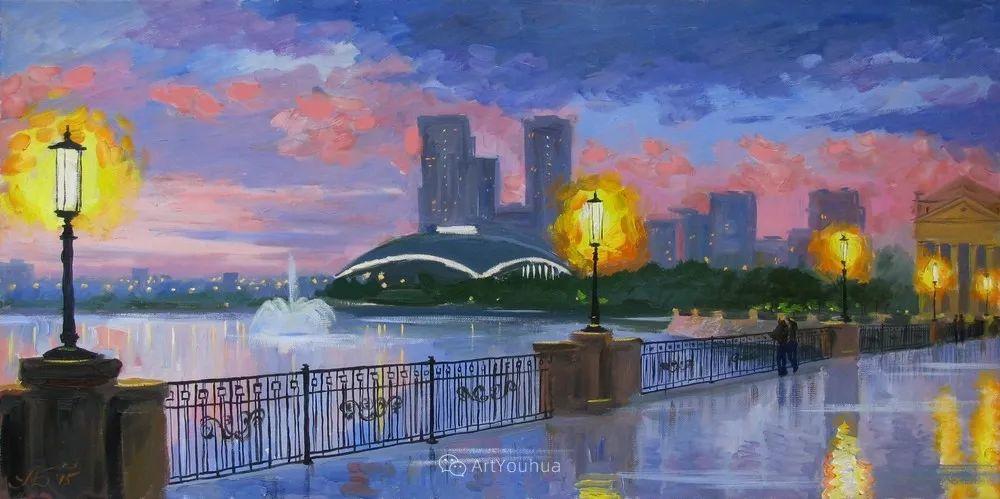 他笔下的路灯街景,很浪漫,暖心!乌克兰艺术家亚历山大·博洛托夫插图65