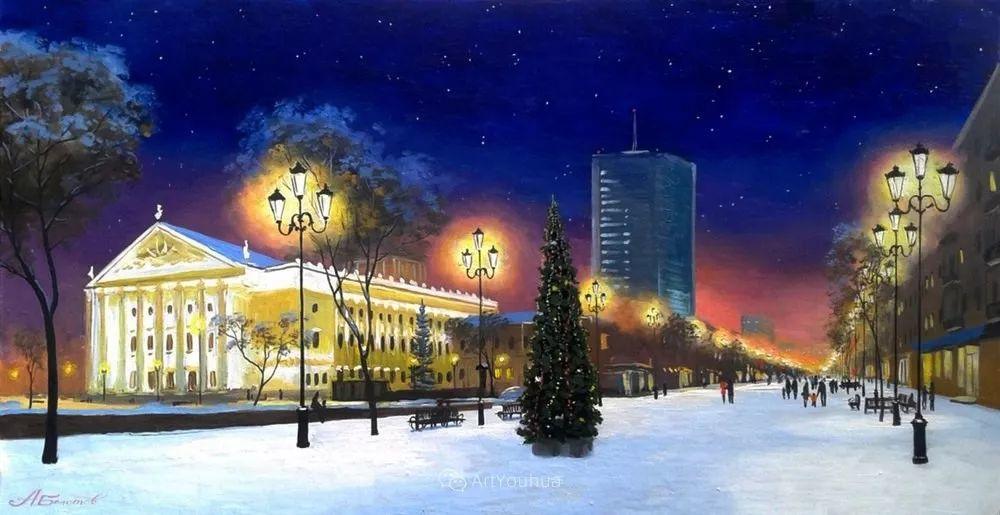 他笔下的路灯街景,很浪漫,暖心!乌克兰艺术家亚历山大·博洛托夫插图67