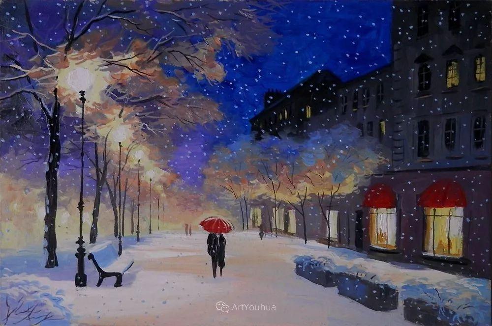 他笔下的路灯街景,很浪漫,暖心!乌克兰艺术家亚历山大·博洛托夫插图69