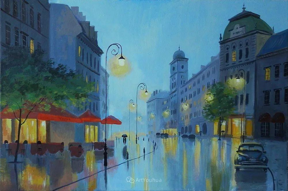 他笔下的路灯街景,很浪漫,暖心!乌克兰艺术家亚历山大·博洛托夫插图73