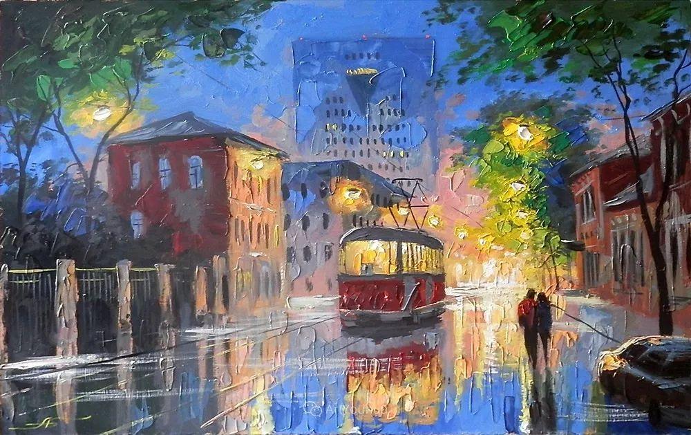 他笔下的路灯街景,很浪漫,暖心!乌克兰艺术家亚历山大·博洛托夫插图75