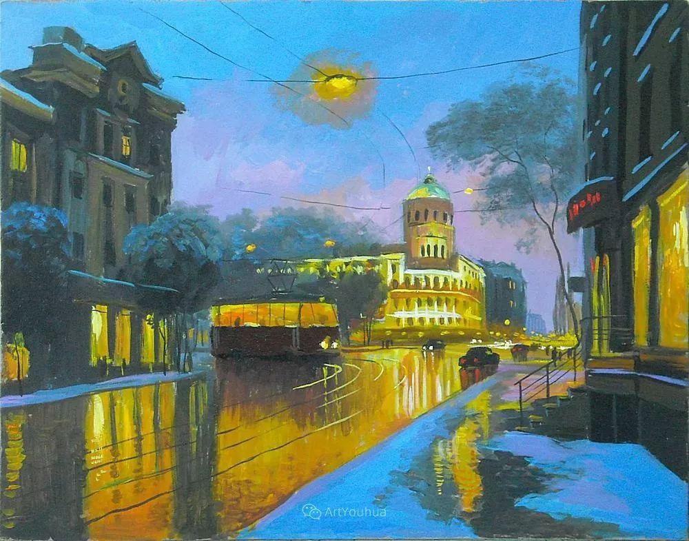 他笔下的路灯街景,很浪漫,暖心!乌克兰艺术家亚历山大·博洛托夫插图77