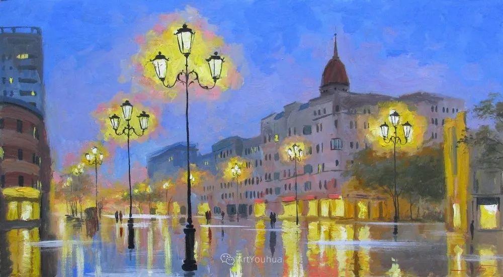 他笔下的路灯街景,很浪漫,暖心!乌克兰艺术家亚历山大·博洛托夫插图81