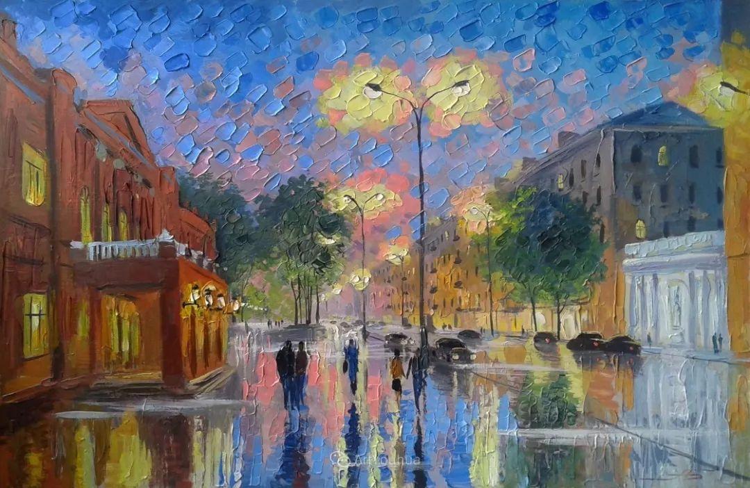 他笔下的路灯街景,很浪漫,暖心!乌克兰艺术家亚历山大·博洛托夫插图83