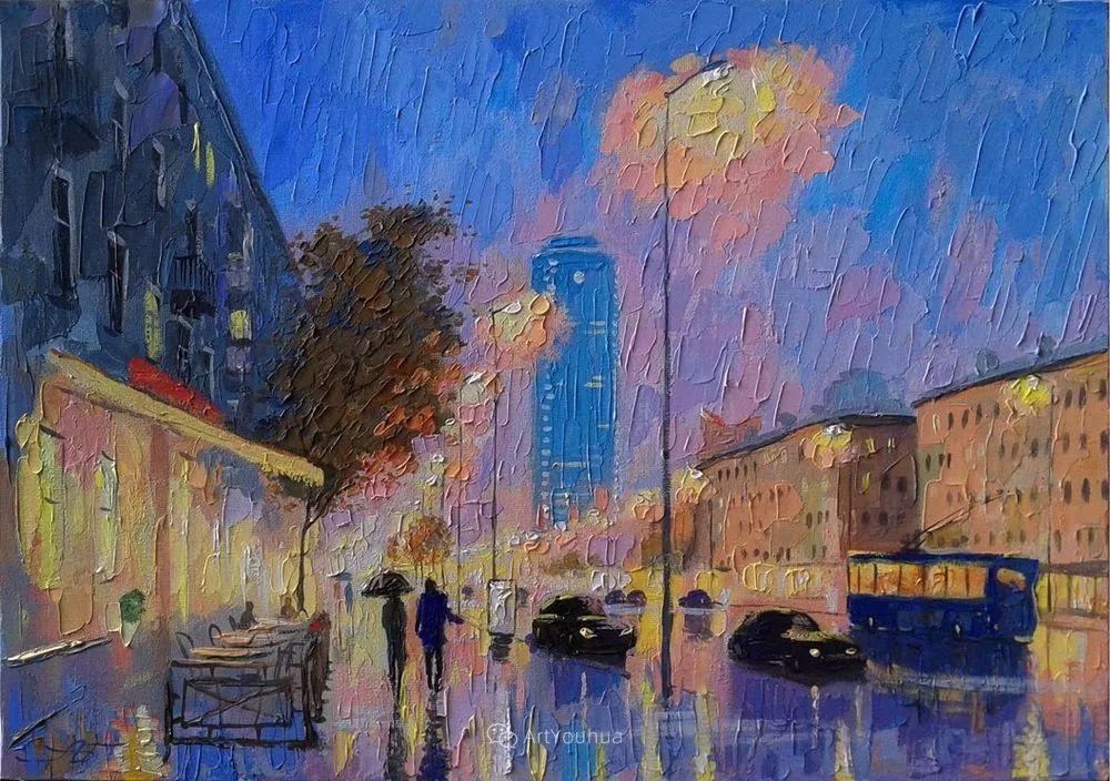 他笔下的路灯街景,很浪漫,暖心!乌克兰艺术家亚历山大·博洛托夫插图85