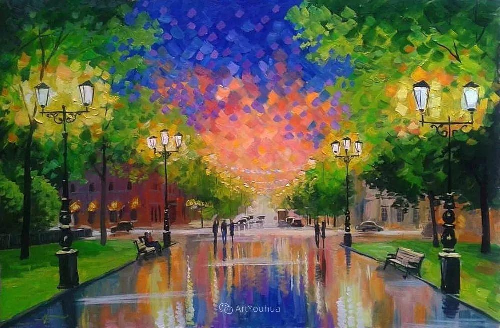 他笔下的路灯街景,很浪漫,暖心!乌克兰艺术家亚历山大·博洛托夫插图87