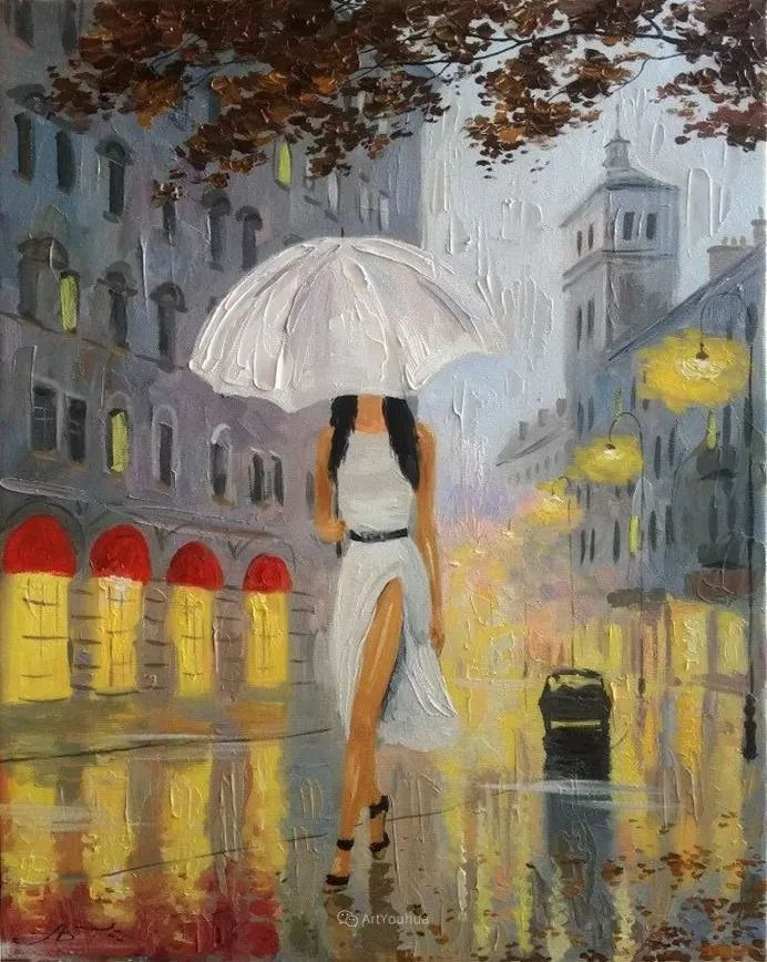 他笔下的路灯街景,很浪漫,暖心!乌克兰艺术家亚历山大·博洛托夫插图91