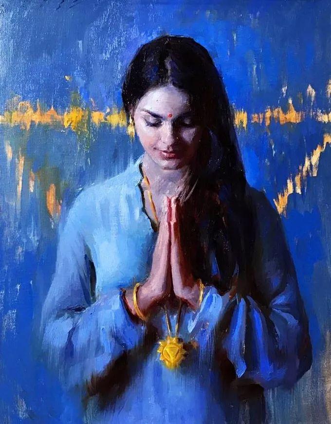 印度女画家笔下的女性之美,值得细细品味!插图1