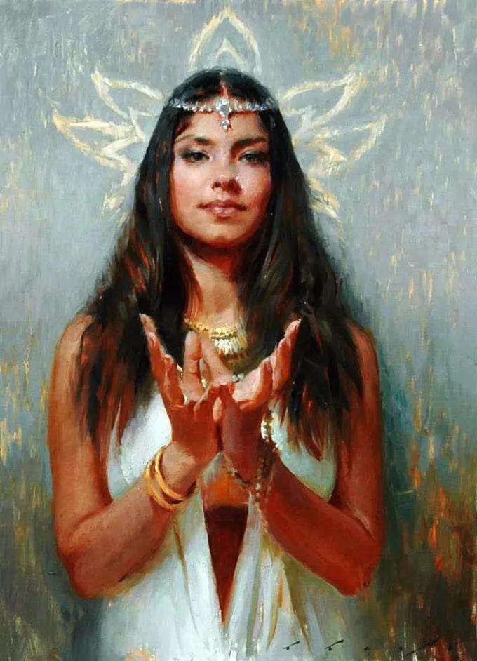 印度女画家笔下的女性之美,值得细细品味!插图21