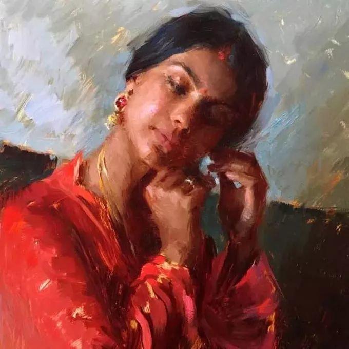 印度女画家笔下的女性之美,值得细细品味!插图25