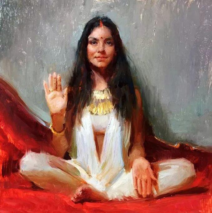 印度女画家笔下的女性之美,值得细细品味!插图55