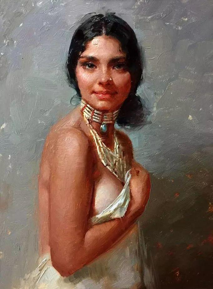 印度女画家笔下的女性之美,值得细细品味!插图61