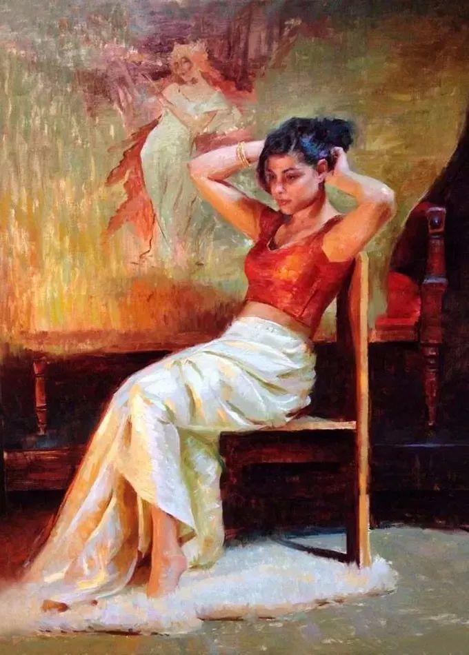 印度女画家笔下的女性之美,值得细细品味!插图105