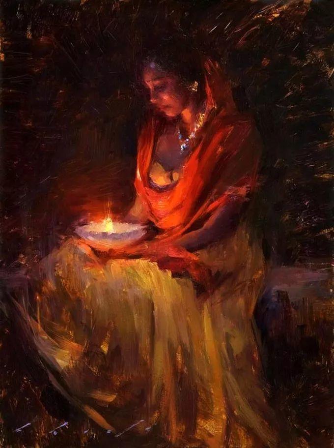 印度女画家笔下的女性之美,值得细细品味!插图125