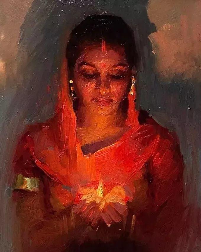 印度女画家笔下的女性之美,值得细细品味!插图131