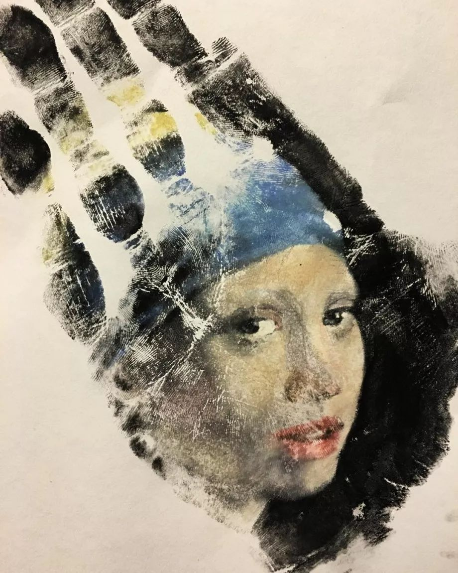 令人叫绝的手掌肖像画,美国艺术家拉塞尔·鲍威尔插图1
