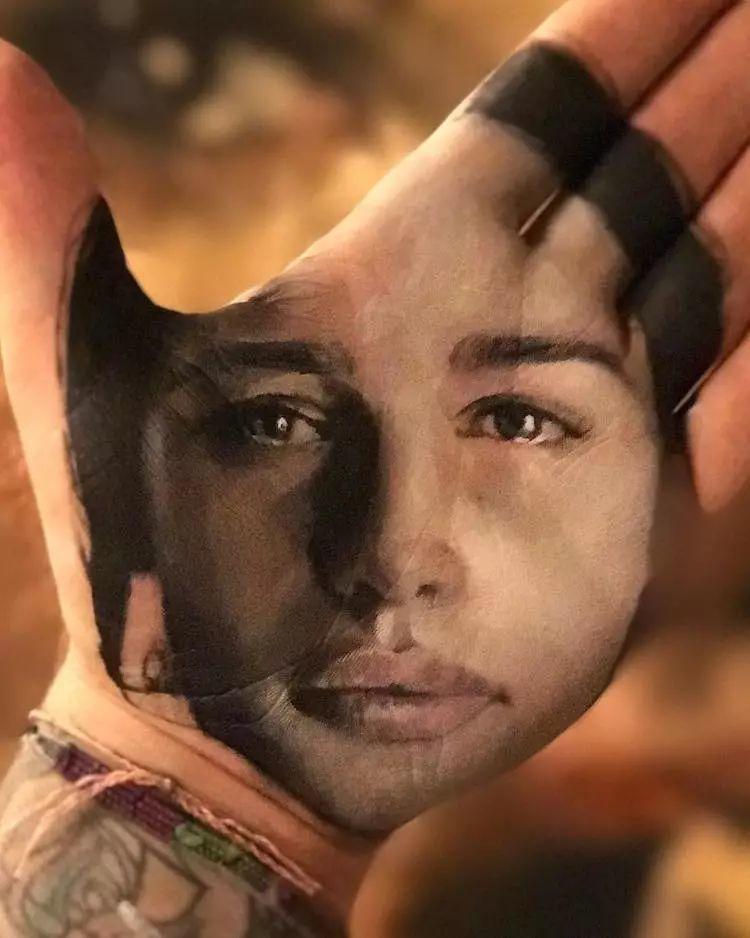令人叫绝的手掌肖像画,美国艺术家拉塞尔·鲍威尔插图7