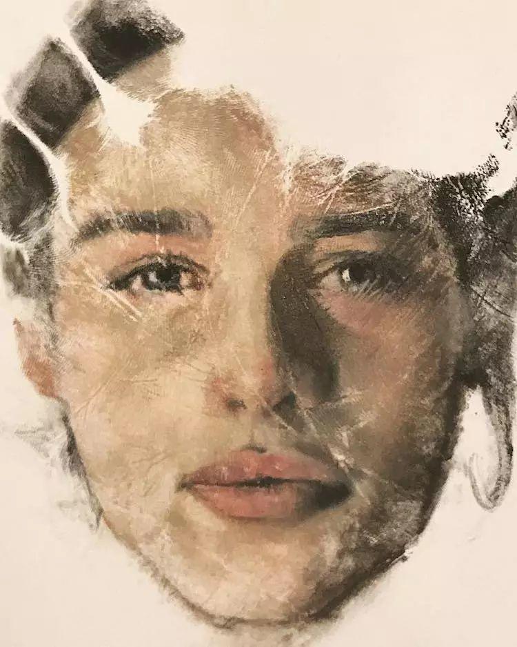 令人叫绝的手掌肖像画,美国艺术家拉塞尔·鲍威尔插图9