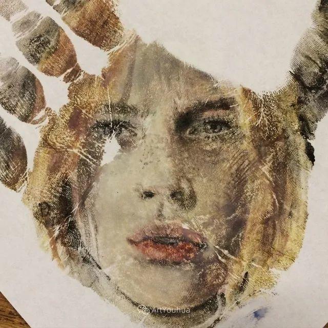 令人叫绝的手掌肖像画,美国艺术家拉塞尔·鲍威尔插图13