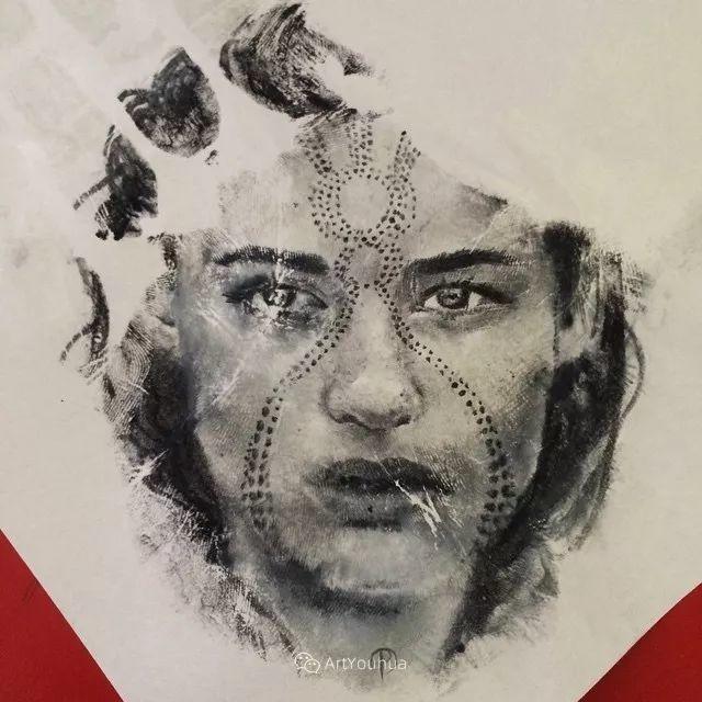 令人叫绝的手掌肖像画,美国艺术家拉塞尔·鲍威尔插图17