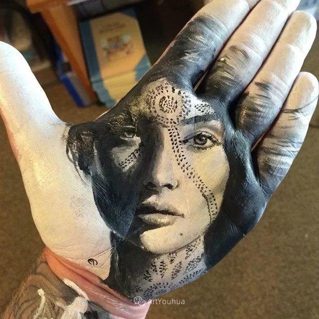 令人叫绝的手掌肖像画,美国艺术家拉塞尔·鲍威尔插图21