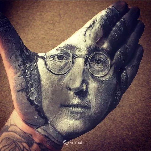 令人叫绝的手掌肖像画,美国艺术家拉塞尔·鲍威尔插图27