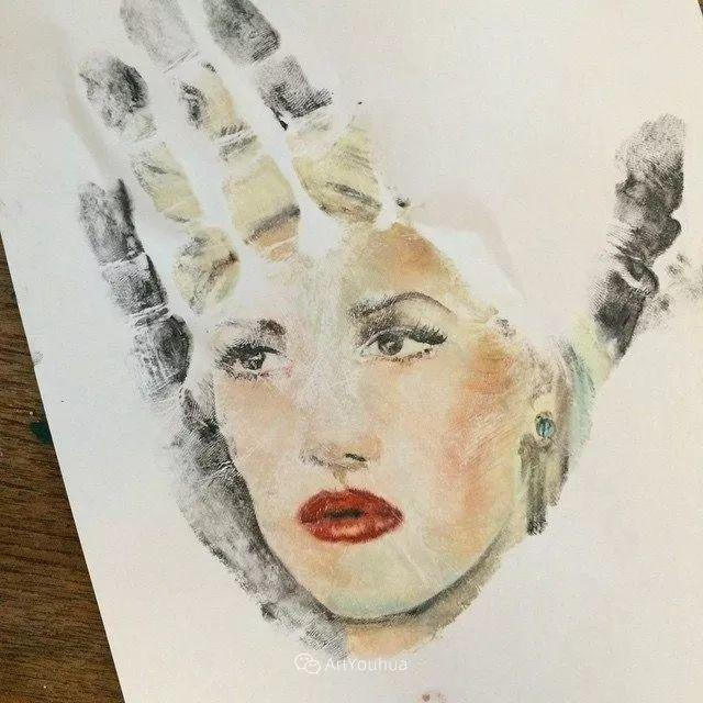 令人叫绝的手掌肖像画,美国艺术家拉塞尔·鲍威尔插图35