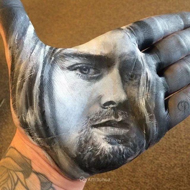 令人叫绝的手掌肖像画,美国艺术家拉塞尔·鲍威尔插图39