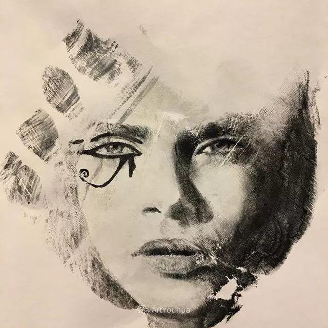令人叫绝的手掌肖像画,美国艺术家拉塞尔·鲍威尔插图45