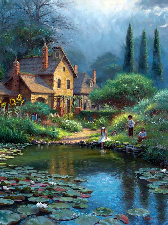 暖阳下美好的童年,美国艺术家马克·凯斯利插图1