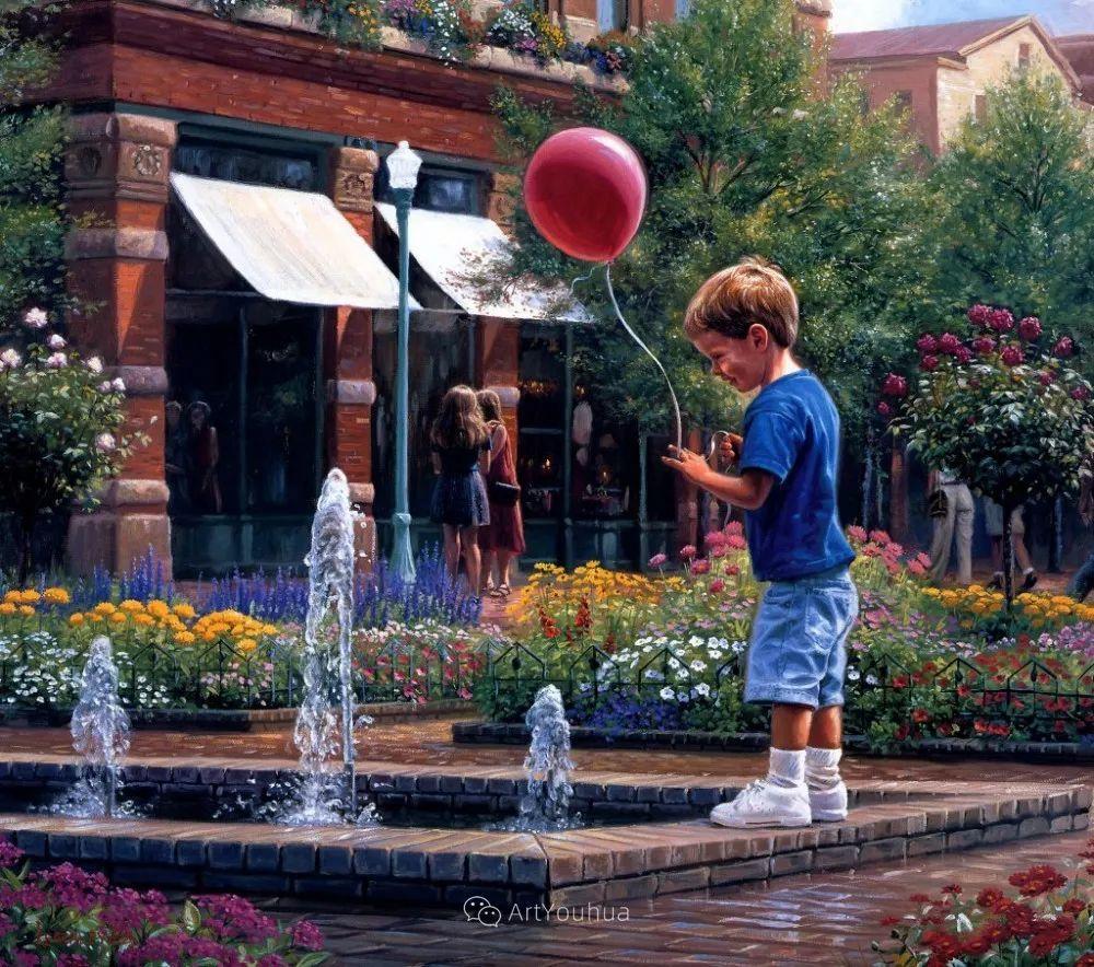 暖阳下美好的童年,美国艺术家马克·凯斯利插图7