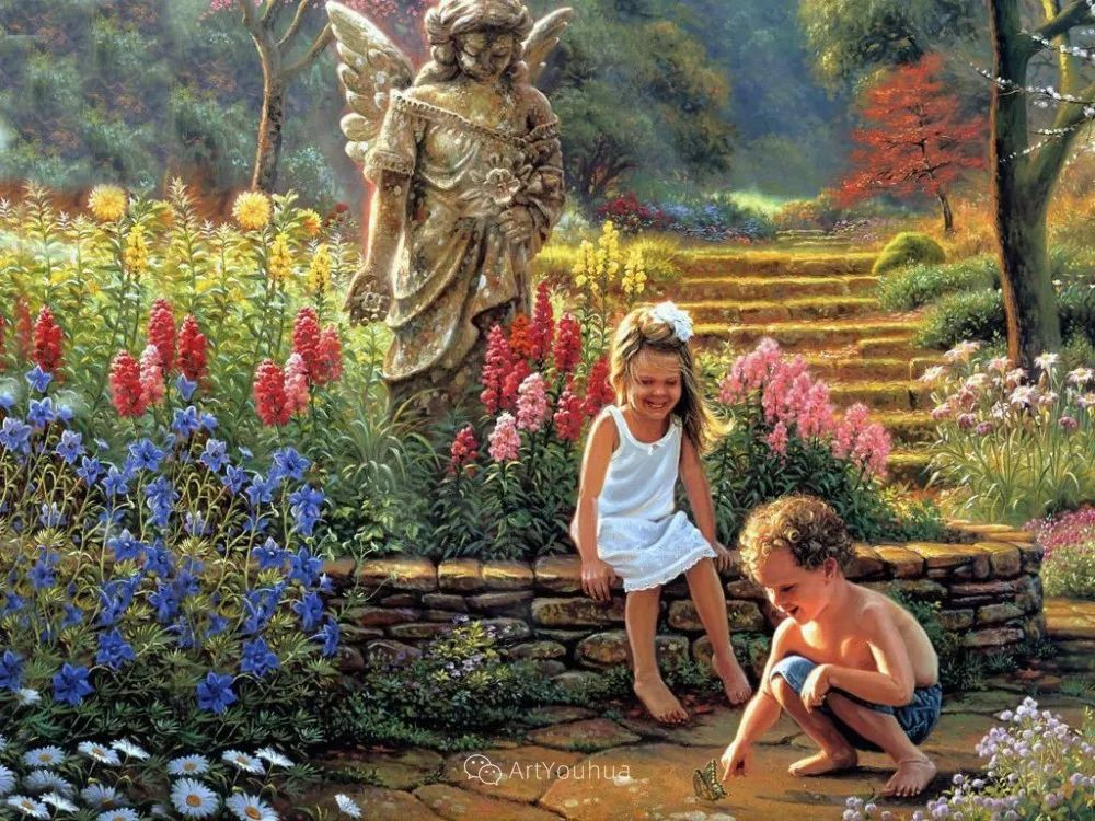 暖阳下美好的童年,美国艺术家马克·凯斯利插图8