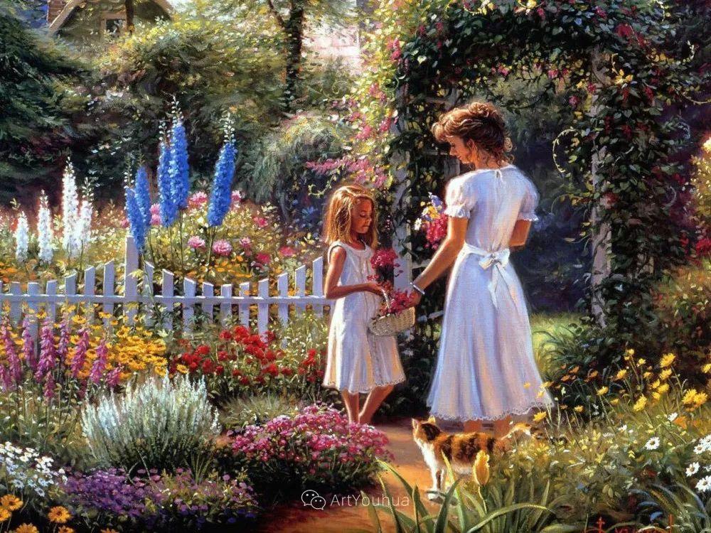 暖阳下美好的童年,美国艺术家马克·凯斯利插图11