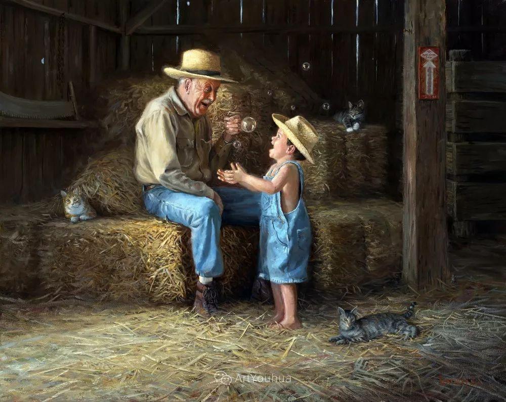 暖阳下美好的童年,美国艺术家马克·凯斯利插图28