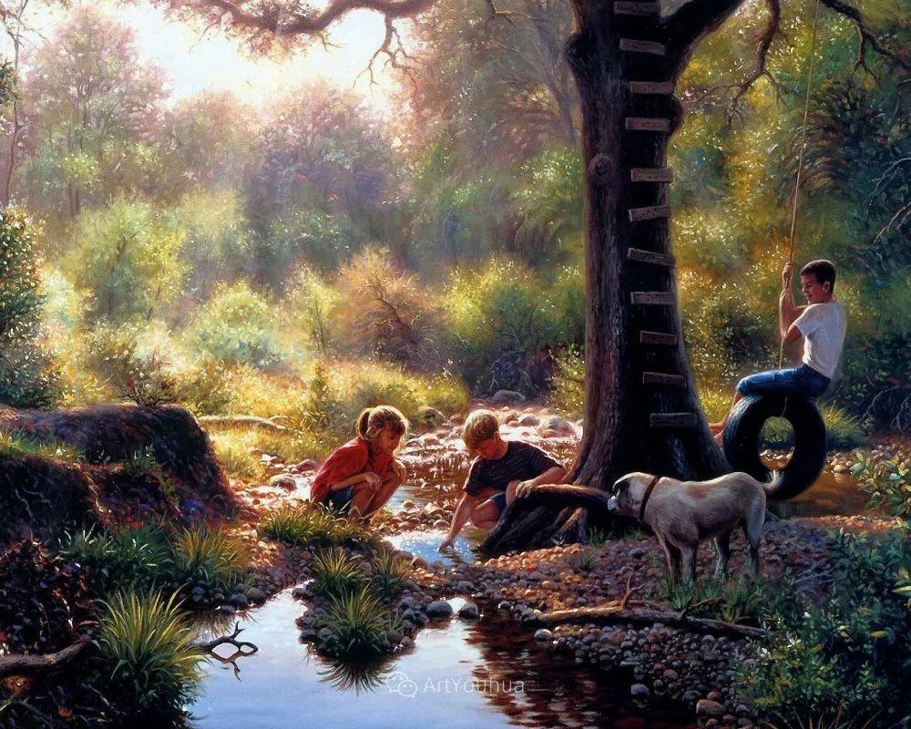 暖阳下美好的童年,美国艺术家马克·凯斯利插图29