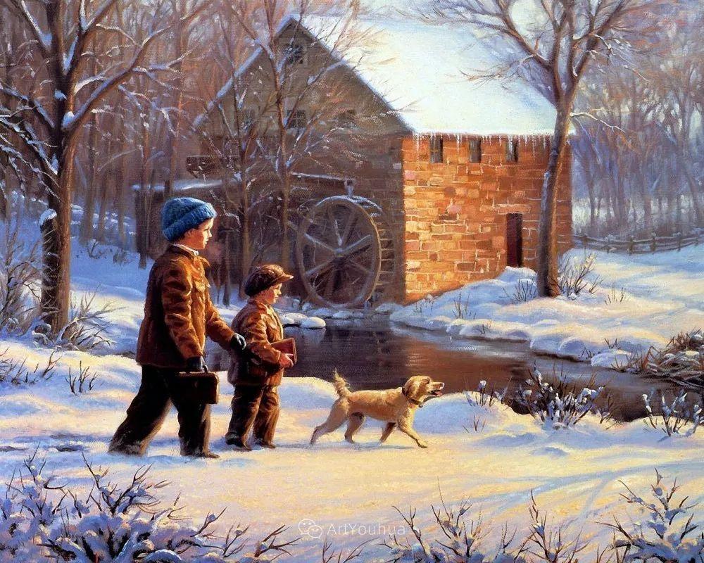 暖阳下美好的童年,美国艺术家马克·凯斯利插图32