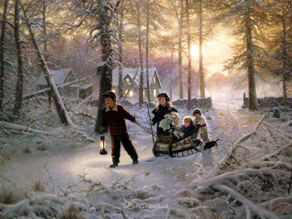 暖阳下美好的童年,美国艺术家马克·凯斯利插图34