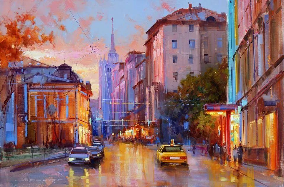 城市景观,俄罗斯艺术家阿列克谢·谢拉耶夫插图
