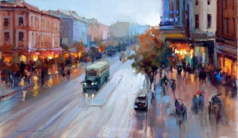 城市景观,俄罗斯艺术家阿列克谢·谢拉耶夫插图2