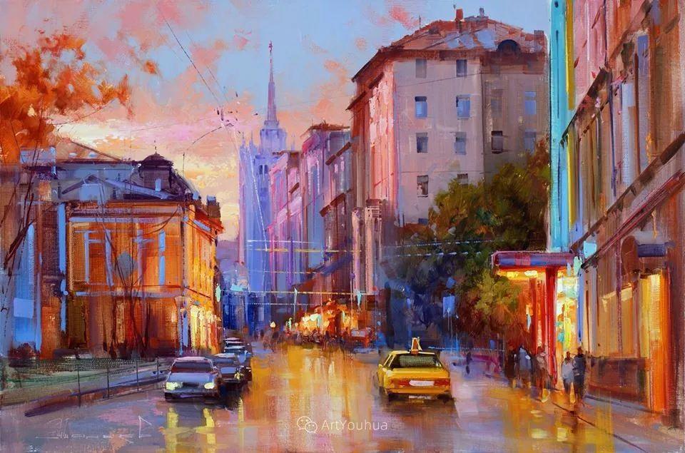 城市景观,俄罗斯艺术家阿列克谢·谢拉耶夫插图4