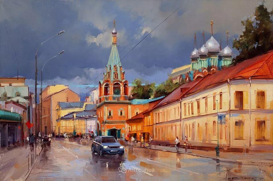 城市景观,俄罗斯艺术家阿列克谢·谢拉耶夫插图5