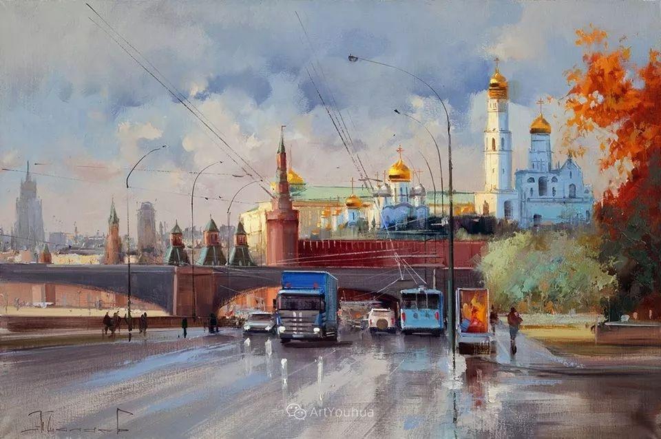 城市景观,俄罗斯艺术家阿列克谢·谢拉耶夫插图6